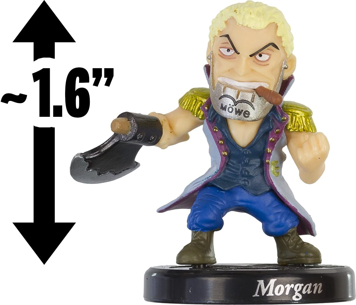 Morgan 1.6  MiniFigure w  Stand  One Piece Collection  10th Anniversary Road to Becoming the King of Pirates Series (Japanese Import)
