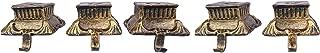 Lulu Decor, Cast Iron Christmas Stocking Holder, Base Hooks in Metallic Gold Color (Roman Pillar 5 Hooks)