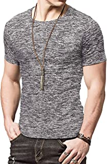 Mens Active School Running Shirt Gym Workout Quick Dry Crew Neck Short Sleeve Tops