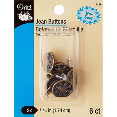 No Sew Instant-Kn/öpfe Ersatz Jean Buttons Einstellbarer Jean-Knopf Jeans Kn/öpfe Hosenkn/öpfe Jeans Buttons Trousers Replacement Kn/öpfe A-6 PCS Sofortkn/öpfe Jeanskn/öpfe Jeans Extender Button