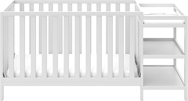 Storkcraft Pacific 4 In 1 Convertible Crib And Changer White