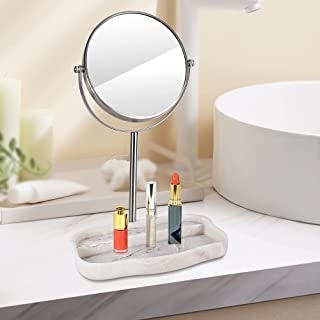Sponsored Ad - 7 inch Cosmetic Mirror , Metal Frame,Resin Base,Double-Sided 5 Times Magnification and 1 Times Ordinary Mir...
