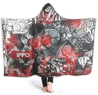 GASDFEFSD Winter Extra Soft Functional Hajime No Ippo Anime Hooded Blanket Warming for Men Women 60