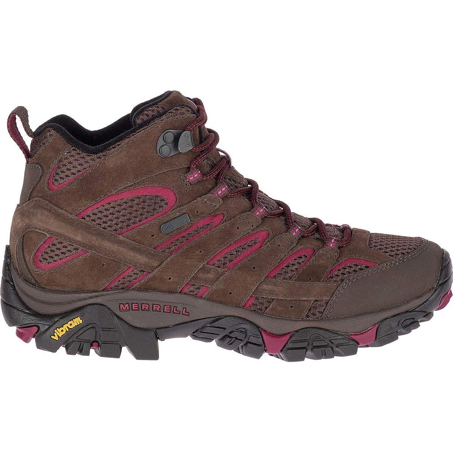 絶えずシロクマ本当のことを言うと[メレル] Moab 2 Mid Waterproof Hiking Boot レディース ブーツ [並行輸入品]