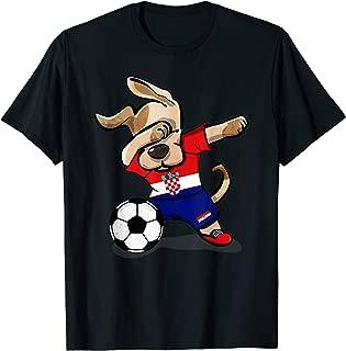 Dog Dabbing Soccer Croatia Jersey Shirt Croatian Football