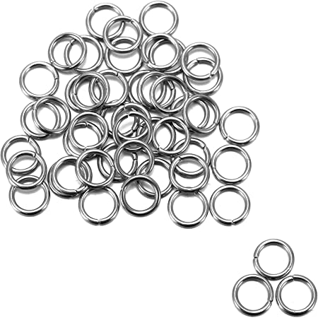 500PCS Stainless Steel Open Jump Rings Connector Jewelry Keychain Making 4-14mm