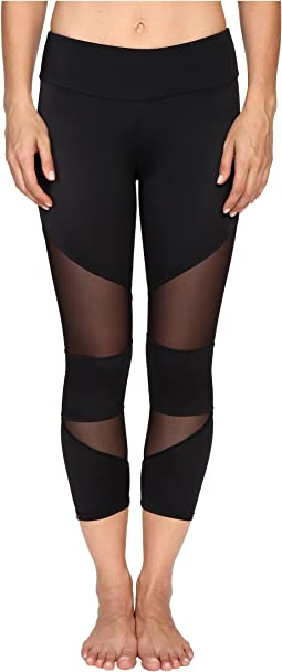 Black Mesh Cut Out Capris