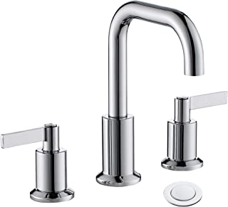 TimeArrow TAF288S-CP Two Handle 8 inch Widespread Bathroom Sink Faucet with Pop-Up Drain, Chrome