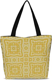 Skull Decor Durable Canvas Tote Bag,for Shopping Travel,One size