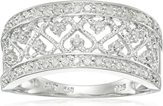 Sterling Silver Multi-Heart Diamond Ring (0.20 cttw, I-J Color, I2-I3 Clarity)