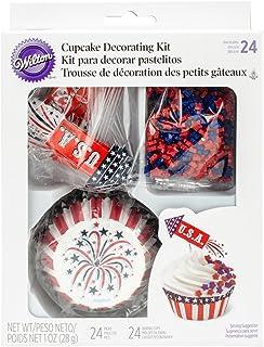 Wilton Cupcake Decorating Kit Makes 24-Rocket, Other, Multicoloured, 5.73 x 16.6 x 21.68 cm