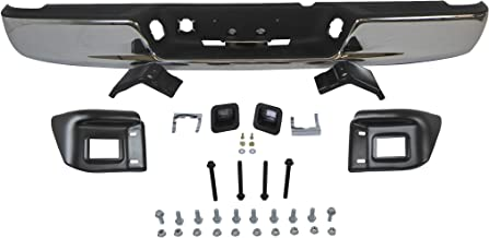 04-08 DODGE RAM 1500 / 04-09 RAM 2500 3500 REAR STEP BUMPER CHROME ASSY WITH TOP PAD, WITH BUMPER BRACKETS, WITH LICENSE BULBS & BULB BRACKETS, WITH BUMPER SUPPORT