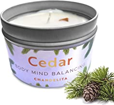 CHANDELITA Aromatherapy Scented Candle with Cedar for Air Purification, Healing and to Purify the Spirit with Soy Wax to F...