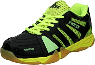 KWICKK Boy's Olympia Badminton Black Non-Marking Sports Shoe -10