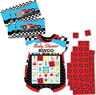 Big Dot of Happiness Let's Go Racing - Racecar Party Game Set – Race Car Baby Shower Party Game Supplies Kit – Bingo Cards and Scratch-Off Cards Party Virtual Bundle