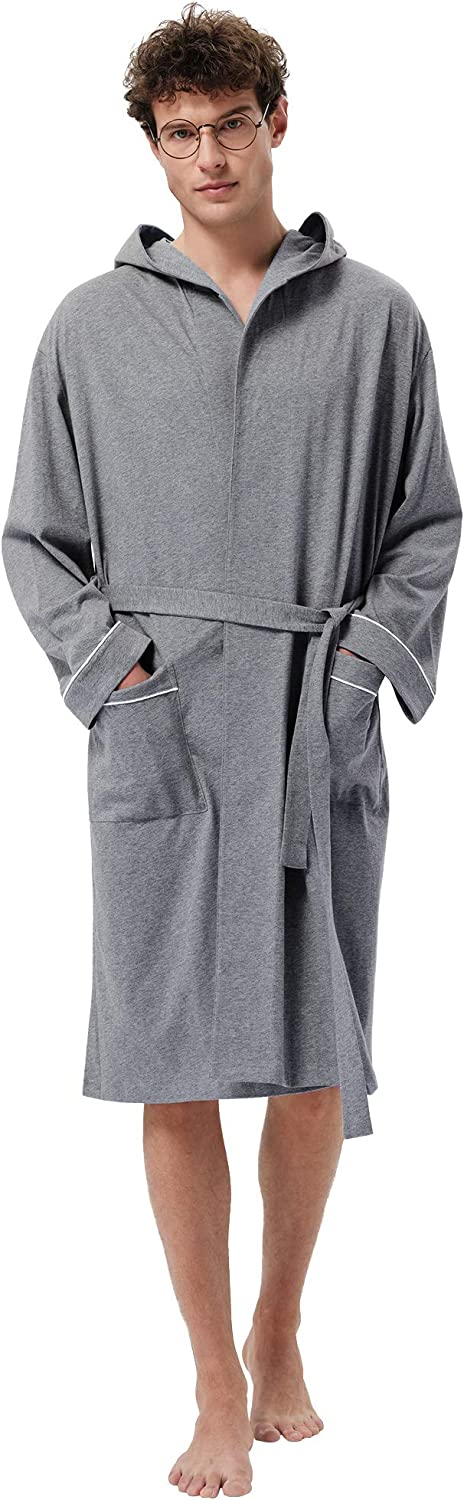 SIORO Men's Cotton Clearance SALE Limited time Robe Lightweight Bat Max 49% OFF Soft Kimono Knee Length