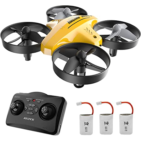 Mini Drone for Kids and Beginners: Remote Control Quadcopter Drone, Helicopter Plane with Altitude Hold Function, 3D Flips, Headless Mode, 3 Batteries, Great Gift for Boys & Girls