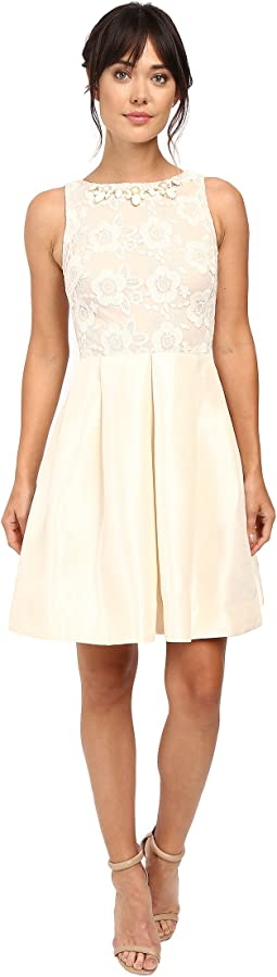 Shantung with Lace Party Dress