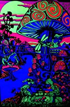 "NewBrightBase Mushrooms Trippy Art Fabric Cloth Rolled Wall Poster Print Size: (20"" X 13"")"