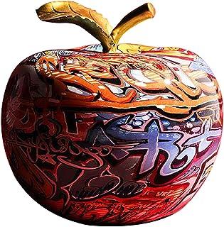 Fenteer Moderne Dessin Coloré Apple Résine Sculpture Creative Graffiti Simulation Apple Art Statue Décor À La Maison Cadea...