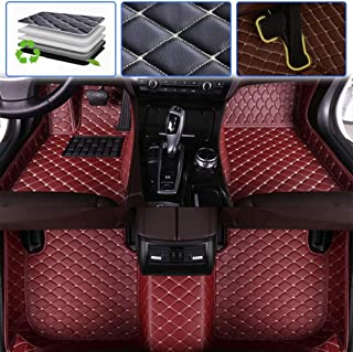 SureKit Custom Car Floor Mats for VW Volkswagen Phaeton 4seat 2007-2016 Luxury Leather Waterproof Anti-Skid Full Coverage Liner Front & Rear Mat/Set (Wine red)