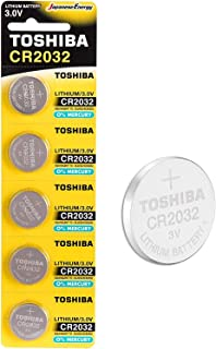 Toshiba CR2032 3V Lithium Coin Cell Battery Pack of 5 batteries Expiry date 2025