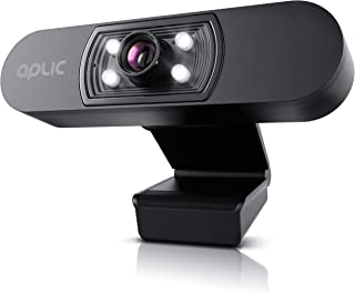 CSL - Full HD 1080p Webcam with Microphone - 2k 1920x1080P @ 25Hz - 4 Auxiliary Lights/Scene Light - 5P Lens - Auto White ...