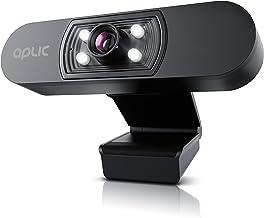 CSL - Full HD 1080p Webcam with Microphone - 2k 1920x1080P @ - 4 Auxiliary Lights/Scene Light - 5P Lens - Auto White Balan...