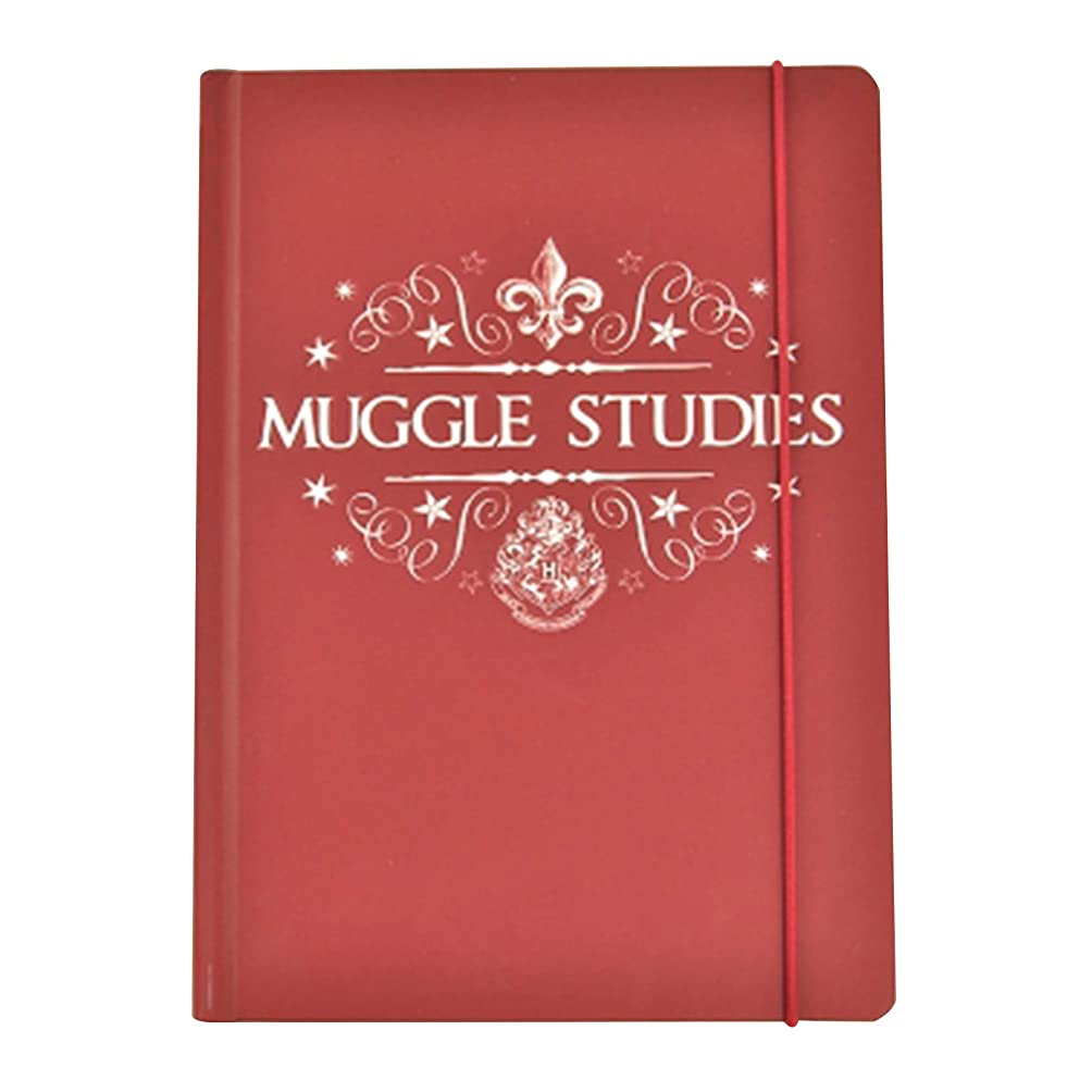 Harry Potter Notebook Muggles Studies 新しい 公式 A5 Lined レッド Hardback