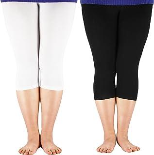 deb7075866a Premium Soft Dress Leggings Bamboo Capri Pants Under Women Light Comfy Fit Plus  Size