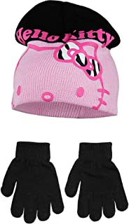 8dc7961ce Hello Kitty Childrens Girls Winter Hat and Gloves Set