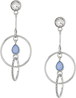 GUESS - Rings with Stone Drop Earrings