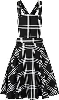 Hell Bunny Mujer Piper Tartán Mini Vestido Estilo Pichi - Negro, 8 ...