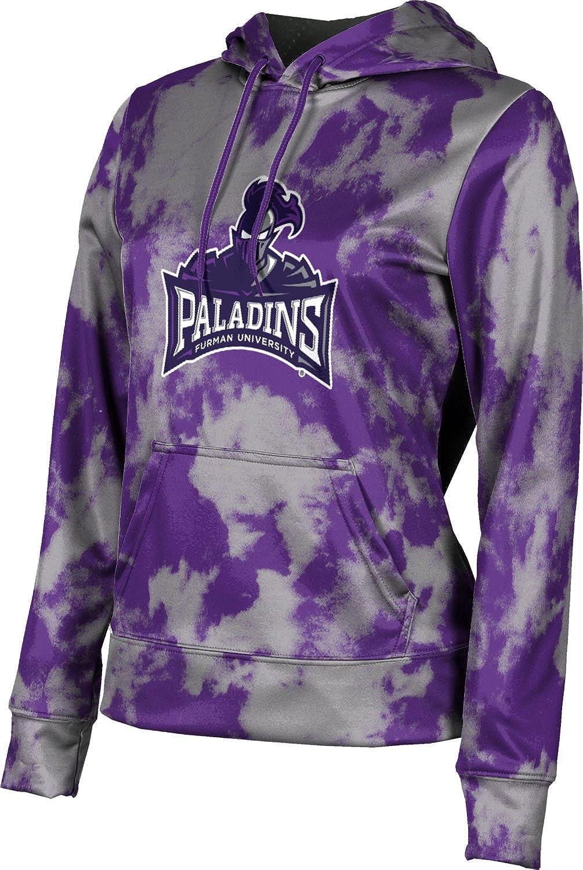 Furman University Girls' Pullover Hoodie, School Spirit Sweatshirt (Grunge)
