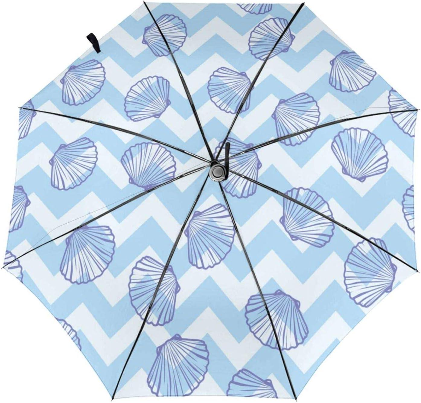 zsst Automatic Folding Umbrellas Inside S Daily bargain sale Seashells Print Marine Max 46% OFF
