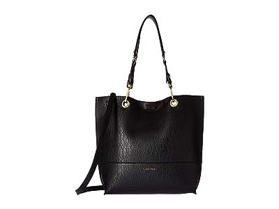 Calvin Klein Sonoma Reversible Novelty Tote (Black Lamb) Tote Handbags