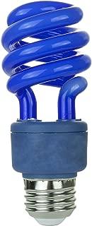 Sunlite SM13/B 13-watt Spiral Energy Saving Compact Fluorescent CFL Light Bulb (40-Watt Incandescent Equivalent), Medium Base, Blue