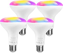 Smart Light Bulb, TECKIN LED RGB Color Changing 2.4G(Not 5G),E27 100W 1300LM Equivalent Compatible with Alexa and Google H...