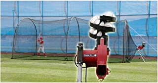 HEATER SPORTS COMPLETE HOME BATTING CAGE w/ HEATER JR. PITCHING MACHINE