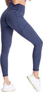 Women's Yoga Pants 7/8 High Waist Workout Leggings Sport Compression Tights with Pocket