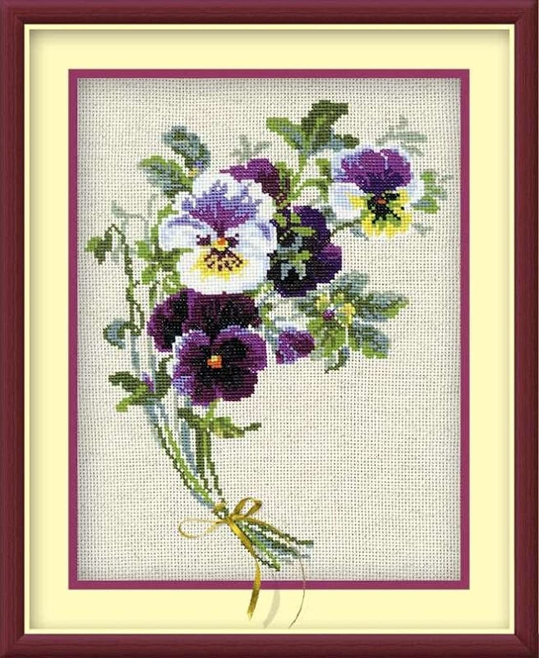 RIOLIS 1020 - Bunch of Pansies - Counted Cross Stitch Kit 9?