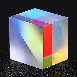 Trolleyshop 1Pcs 2 x 2 x 1.7cm Colorful Optical Glass RGB Dispersion Cross Dichroic Cube Prism X-Cube for Physics Teaching Research Decoration Art Education