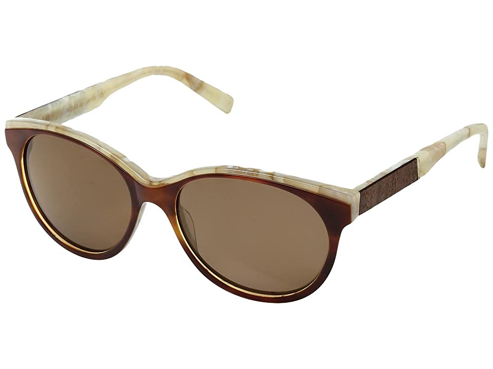 Shwood Madison Acetate Wood Polarized (Salted Caramel/Mahogany/Brown Polarized) Polarized Sport Sunglasses