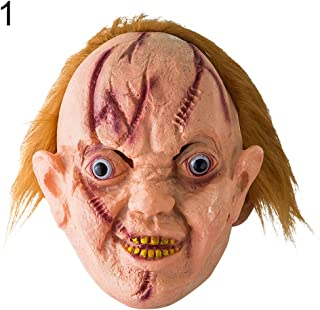 Mask Halloween Man, lEIsr00y Halloween Scary Disgusting Vinyl Bloody Ghost Tongue Mask Costume Party Props - 1