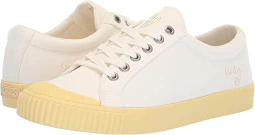 Off-White/Pastel Yellow