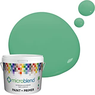 Microblend Interior Paint and Primer - Green/Park Play, Flat Sheen, 5-Gallon, Premium Quality, One Coat Hide, Low VOC, Was...