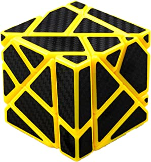 cuberspeed Fangcun Ghost 3x3 Yellow Magic Cube 3x3 Ghost 3x3x3 Speed Cube with Black Carbon Fiber Stickers