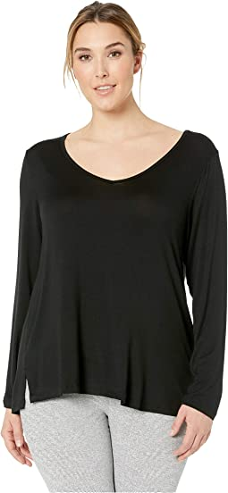 Plus Size Tempting V-Neck Pullover