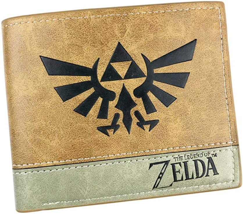 Gumstyle The Legend of Zelda Game Men's Artificial Leather Bifold Wallet 6 Slots Card Holder Two-color Stitching