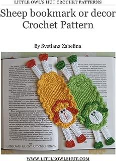 Sheep bookmark Crochet Pattern Amigurumi (LittleOwlsHut) (Crochet bookmark Book 13)